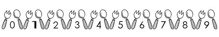 Tableware Font Font OTHER CHARS