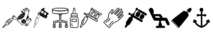 Tattoo Pro Icons Font OTHER CHARS