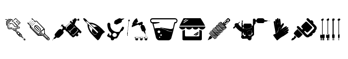 Tattoo Pro Icons Font UPPERCASE