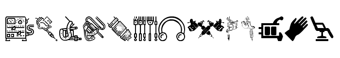 Tattoo Pro Icons Font LOWERCASE