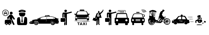 Taxi Font OTHER CHARS
