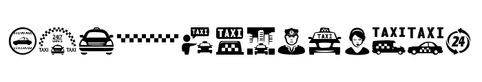 Taxi Font UPPERCASE