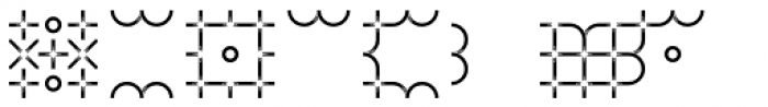 TCF Zellige Ornments Two Font UPPERCASE