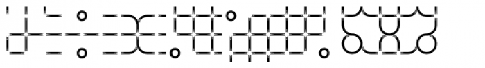 TCF Zellige Ornments Two Font LOWERCASE