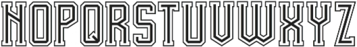 Team Spirit In-Out FX otf (400) Font LOWERCASE