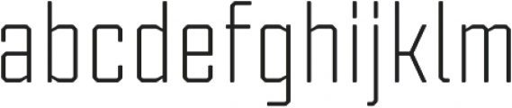 Tecnica Regular Regular otf (400) Font LOWERCASE