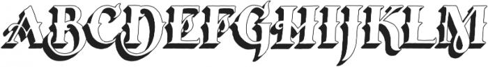 Tervia Shadow2 otf (400) Font LOWERCASE