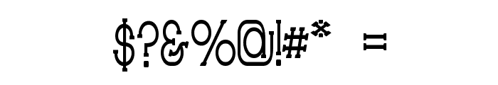 Technically Insane Narrow Font OTHER CHARS