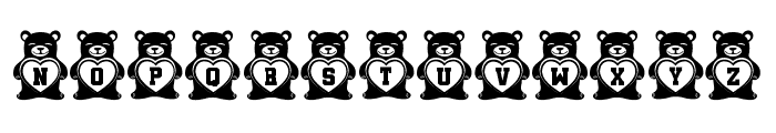 Teddy Bears Regular Font LOWERCASE