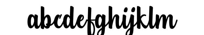Teiqulato Free Regular Font LOWERCASE
