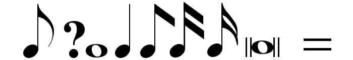 Tempo Indications Lite Font OTHER CHARS
