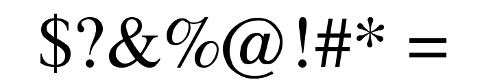 Tempo Regular Font OTHER CHARS