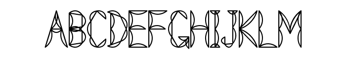 Tetraclericton Font UPPERCASE