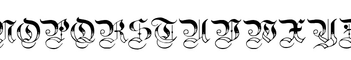Teutonic No3 DemiBold Font UPPERCASE