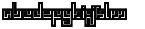 Technical Scripture Mix Backlight Font LOWERCASE