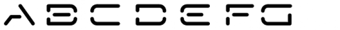 Techstencil Expanded Regular Font LOWERCASE
