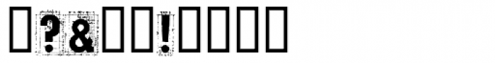 Tecon Solid Font OTHER CHARS