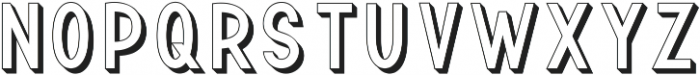 TF Continental Outline 3D ttf (400) Font UPPERCASE