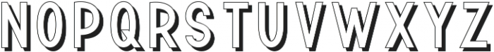 TF Continental Outline Shadow ttf (400) Font UPPERCASE