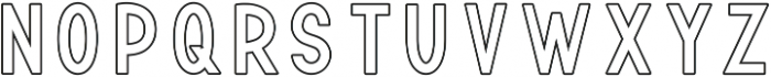 TF Continental Outline ttf (400) Font UPPERCASE
