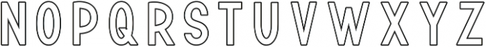 TF Continental Outline ttf (400) Font LOWERCASE