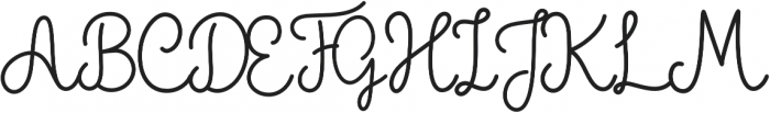 The Grateful 1 otf (400) Font UPPERCASE