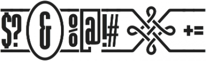 The Tribal Box otf (400) Font OTHER CHARS