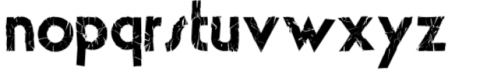 The Crashed Fonts theLUXX Crashed Font LOWERCASE