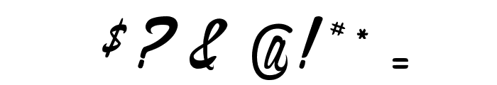 The Cinthia Edito Font OTHER CHARS
