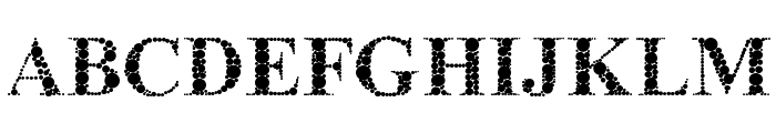 The Classy Dots Font UPPERCASE