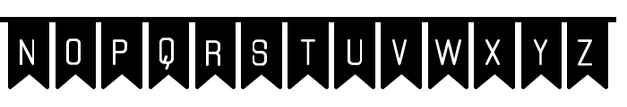The Flaggy St Font UPPERCASE