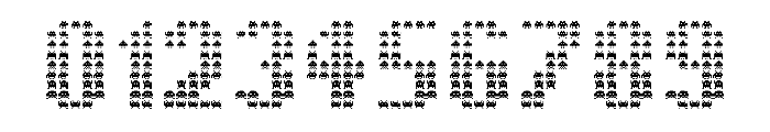 The Invaders Regular Font OTHER CHARS