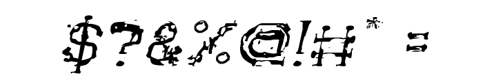 The Lazy Dog Italic Font OTHER CHARS
