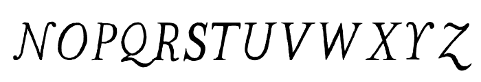 The Missus Hand Oblique Font UPPERCASE