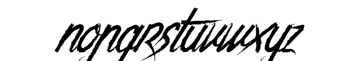 The Night Creatures Font LOWERCASE