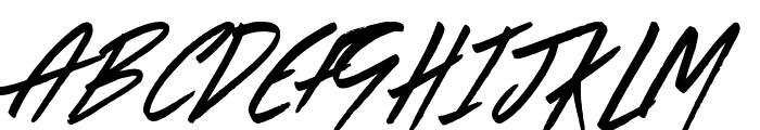 The Right Thing Font UPPERCASE