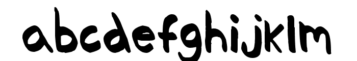 Thickedy Quick Font LOWERCASE