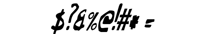 This Little Piggy Condensed Italic Font OTHER CHARS