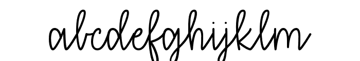 thatiloveyou Font LOWERCASE