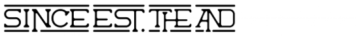 The Wild Hammers Characters Font UPPERCASE