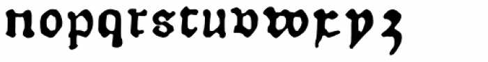 Therhoernen Font LOWERCASE