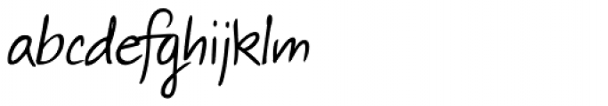 Thery Handwriting Font LOWERCASE