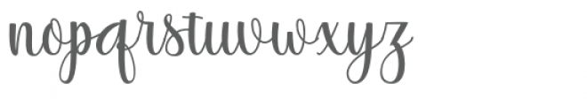 Thatch Font LOWERCASE