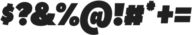 Tide Sans Cond 900 Dude Italic otf (900) Font OTHER CHARS