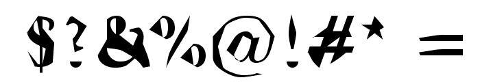 Ticky font Font OTHER CHARS