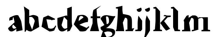 Ticky font Font LOWERCASE