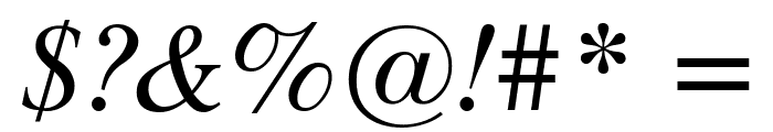 Timok Italic Font OTHER CHARS