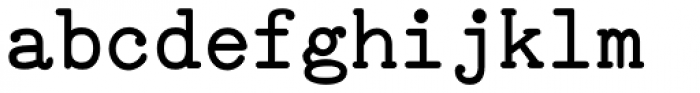 TiredOfCourier Bold Font LOWERCASE