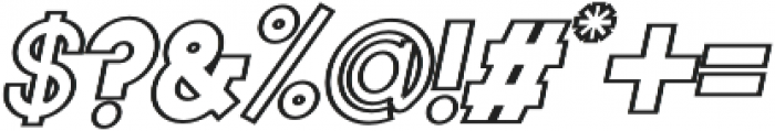 Torch Outline Italic otf (400) Font OTHER CHARS