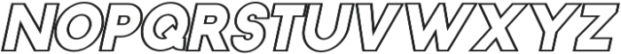 Torch Outline Italic otf (400) Font LOWERCASE